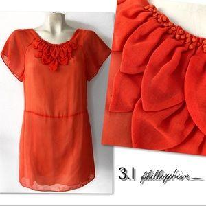 3.1 Phillip Lim HARVEST ORANGE Silk Lined Dress 4